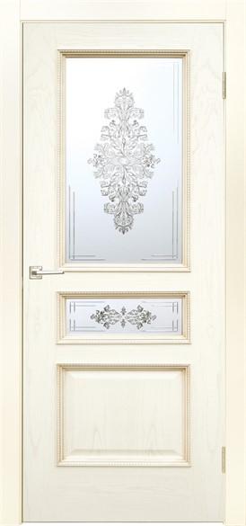 """Дверь межкомнатная остеклённая """"Альба"""" - фото 5600"""