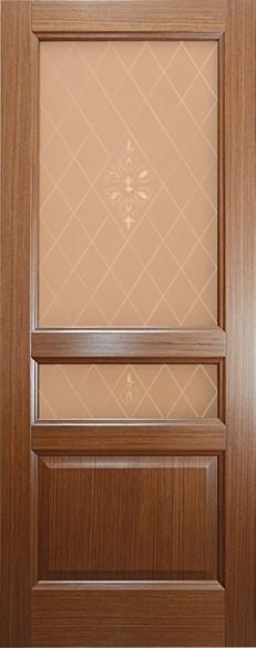 """Дверь межкомнатная остеклённая """"Готика"""" - фото 5605"""