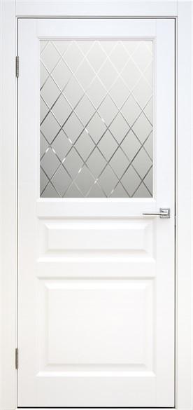 """Дверь межкомнатная остеклённая """"Вайт"""" - фото 5648"""