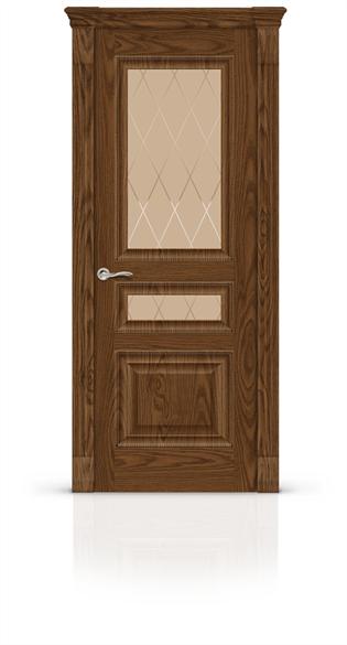 """Дверь межкомнатная со стеклом """"Бристоль 2"""" - фото 5871"""
