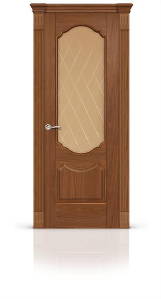 """Дверь межкомнатная со стеклом """"Гиацинт"""" - фото 5872"""