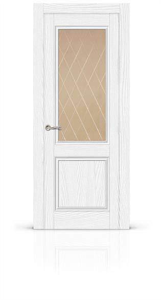"""Дверь межкомнатная со стеклом """"Энигма 1"""" - фото 5896"""
