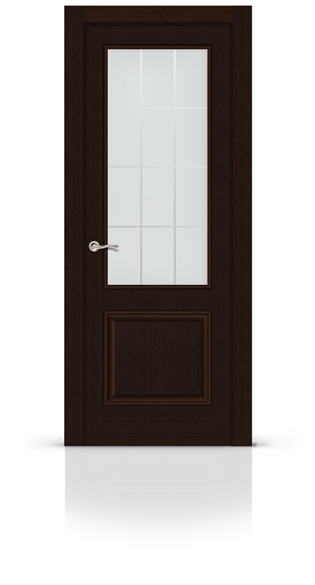 """Дверь межкомнатная со стеклом """"Малахит 1 (Classic)"""" - фото 5912"""