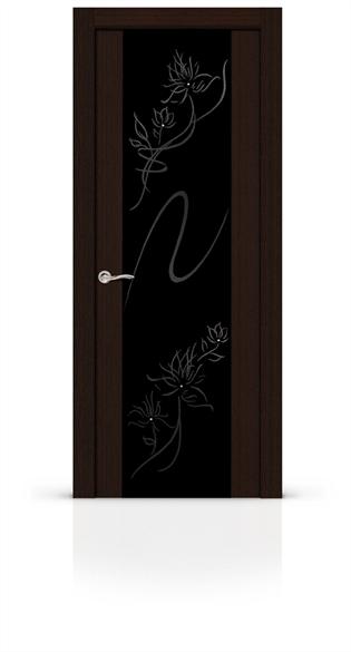 """Дверь межкомнатная со стеклом """"Бриллиант"""" - фото 5914"""