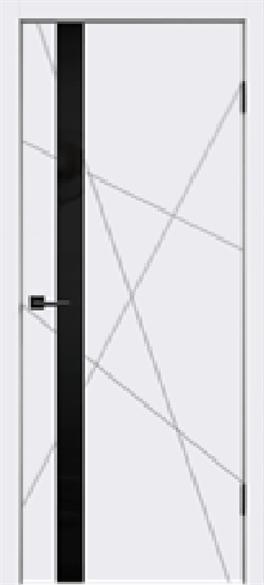 """Дверь межкомнатная с черным стеклом """"Scandi S"""" - фото 6023"""