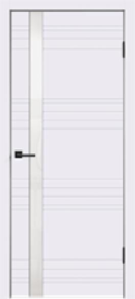"""Дверь межкомнатная с белым/черным стеклом """"Scandi N"""" - фото 6029"""