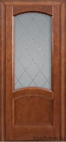 """Дверь межкомнатная остеклённая """"Аврора"""" - фото 7483"""