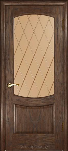"""Дверь межкомнатная  остеклённая """"Аврора 3"""" - фото 7534"""