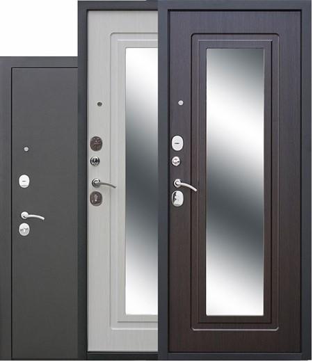 """Дверь входная с зеркалом """"Царская Муар"""" - фото 8325"""