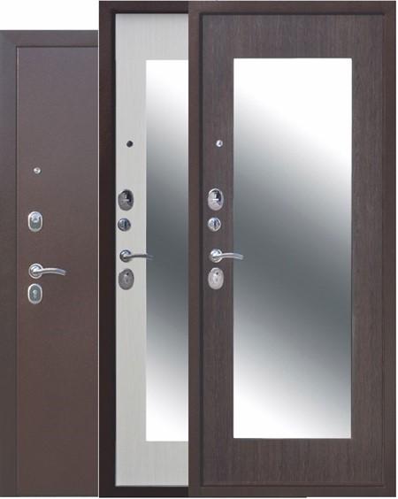 """Дверь входная с зеркалом """"Царская MAXI"""" - фото 8326"""