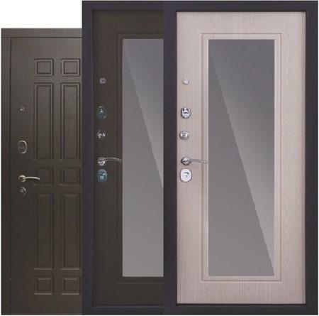 """Дверь входная с зеркалом """"Кватро"""" - фото 8361"""