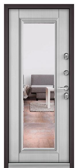 """Дверь входная с зеркалом """"Termo 100"""" R-4/10 T140 - фото 9336"""