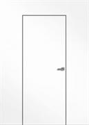 "Дверь межкомнатная глухая под покраску ""Invisible"" 59мм  с притвором, R"