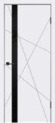 """Дверь межкомнатная с черным стеклом """"Scandi S"""""""