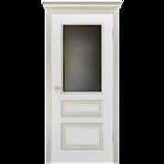 """Дверь межкомнатная остеклённая """"Трио корона - B1"""""""