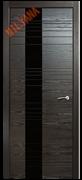 """Дверь межкомнатная с чёрным стеклом """"ID"""""""