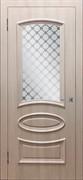 """Дверь межкомнатная остеклённая с объёмным багетом """"Ровито"""""""