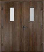 Дверь со стеклом строительная