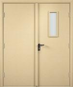 Дверь со стеклом строительная под покраску
